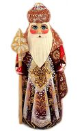 Santa (Ded Moroz), Wood Carved, Hand Painted, 6 1/2""