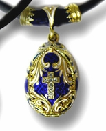 Silver/Gold Plated Egg Locket Pendant with Stones and  Cable