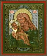 Simeon Presenting the Christ Child, Orthodox Mini Icon