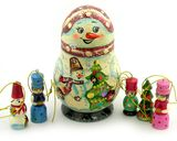 Open Up Snow Man With Christmas Ornaments