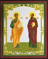 SS Peter and Paul, Orthodox Gold Foil Mini  Icon