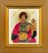 St George, Orthodox Icon in Wooden Frame