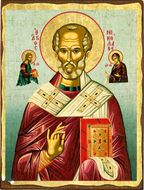 Saint Nicholas, Greek Serigraph Orthodox Icon