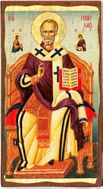 Saint Nicholas, Orthodox Christian Serigraph Panel Icon