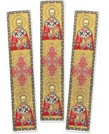 Set of 3 Tapestry Icon Book Markers with St Nicholas