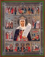 St. Olga Vita (Life) Orthodox Christian Icon, Med