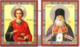 St. Panteleimon and St. Luka, Healers, Orthodox Mini Diptych
