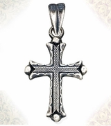 Sterling Silver Cross with Antiqued Finish, 1 1/16""
