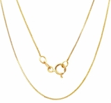 Sterling Silver, Gold Plated Hallmarked Chain