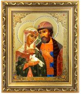 Sts. Peter and Fevronia of Murom, Orthodox Framed Icon