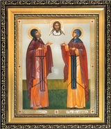 Sts. Peter and Fevronia of Murom, Framed Wedding Icon