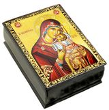Virgin Mary Sweet Kissing, Wooden Icon Box