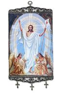 Resurrection of Christ, Textile Art  Tapestry Icon Banner Large