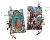 Our Lady Of Guadalupe and Arch. Michael, Tapestry Cloth / Case Pouch
