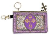 Tapestry Holder for Rosary with Key Chain, Purple-Gold