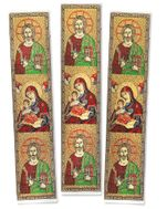 The Christ and Virgin Mary, Set of 3  Tapestry  Icon  Book Markers