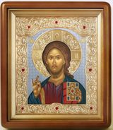 Christ the Teacher, Serigraph Framed Icon with Glass