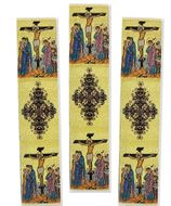 Set of 3 Tapestry  Icon  Book Markers, The Crucifixion