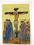 The Crucifixion, Tapestry Icon Greeting Card with Envelope