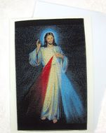 "The ""Divine Mercy"", Tapestry Icon Greeting Card with Envelope"