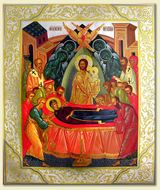 The Dormition of The Virgin Mary, Orthodox Christian Icon