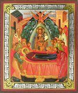 The Dormition of The Virgin Mary, Orthodox Christian Mini Icon