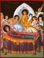 The Dormition of The Virgin Mary, Orthodox Icon, G5