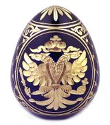 Imperial Crystal  Egg with Double Headed Eagle / Catherine The Great Sign