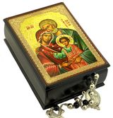 The Holy Family, Keepsake Rosary Icon Box