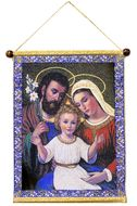The Holy Family, Hanging Tapestry Icon Banner