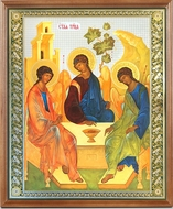 The Holy Trinity (Old Testament Trinity), Framed   Icon with Protective Glass