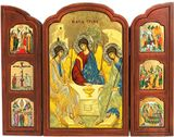 The Holy Trinity, Orthodox Serigraph Triptych