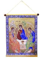 The Holy Trinity, Hanging Tapestry Icon Banner