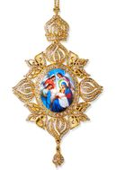 Nativity of Christ, Framed Icon Ornament, Byzantine Style