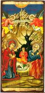 Nativity of Christ,   Greek Serigraph Panel Icon