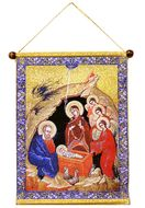 The Nativity, Hanging Tapestry Icon Banner