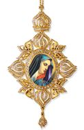 Virgin Mary of Sorrows, Framed Icon Ornament, Byzantine Style