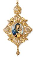 Virgin Mary The Eternal Bloom, Framed Icon Ornament, Byzantine Style