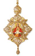 "Virgin Mary ""Reigning"", Framed Icon Ornament, Byzantine Style"