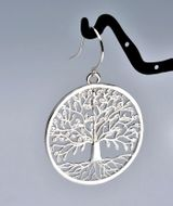 "Sterling Silver 925 ""Tree of Life"" Earrings"