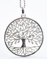 """Tree of Life"" Pendant,  Sterling Silver 925"