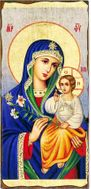 Virgin Mary the Eternal Bloom, Orthodox Christian Serigraph Panel Icon