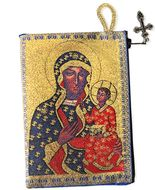 Virgin Mary Czestochova, Rosary Icon Pouch