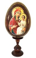 "Virgin Mary ""Quick to Hearken"", Icon Egg with Stand"