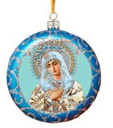 Virgin Mary Extreme Humility, Not Breakable Christmas  Ornament, Blue