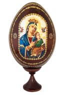 Virgin of Passions - Lady of Perpetual Help, Icon Egg with Stand