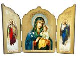 Virgin Mary the Eternal Bloom  / Archangels Michael and Gabriel, Triptych