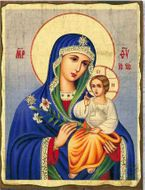 Virgin Mary the Eternal Bloom, Orthodox Christian Serigraph Icon