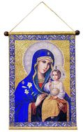 Virgin Mary Eternal Bloom, Hanging Tapestry Icon Banner
