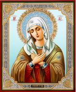 Virgin Mary Extreme Humility, Orthodox Christian Icon